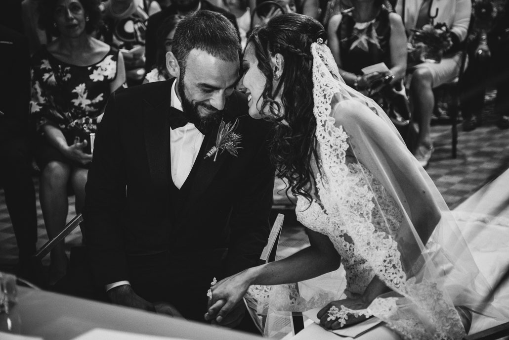 matrimonio in bianco e nero
